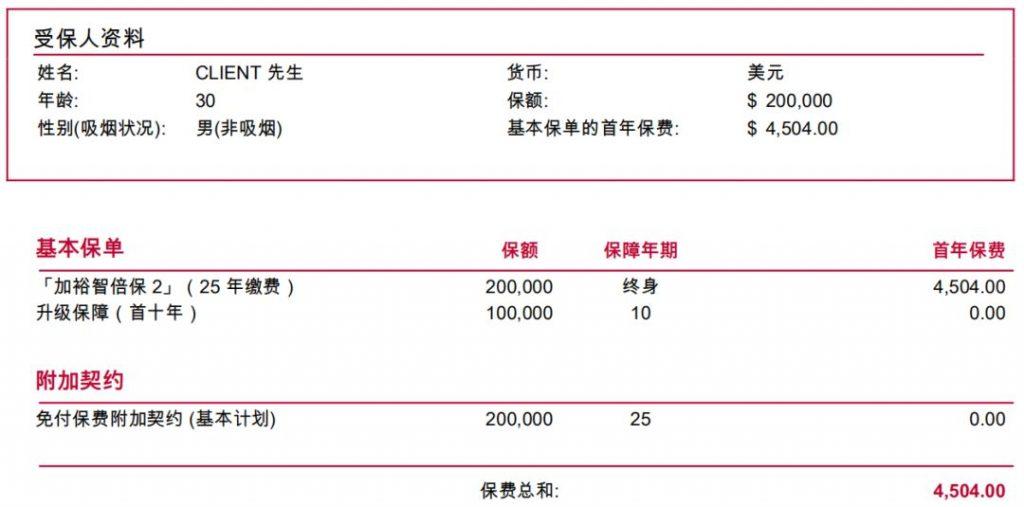 香港保诚单次赔付重疾险「危疾首护保」